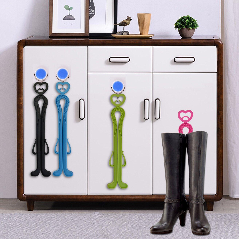 Stivali Lunghi Shaper Wear Shoes Supporto per Scarpe Shaper Boot con Manico Poualss 4 Pezzi Porta Stivali Colori Casuali
