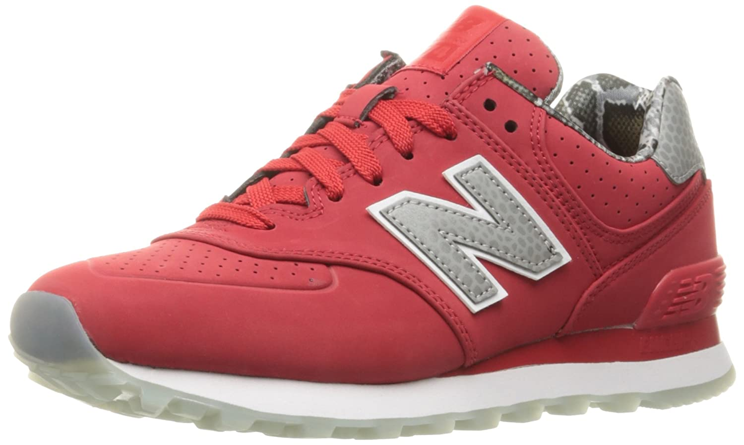 New Balance Women's WL574 Luxe Rep Sneaker B01FSIF5FS 12 B(M) US|Chinese Red/Chinese Red