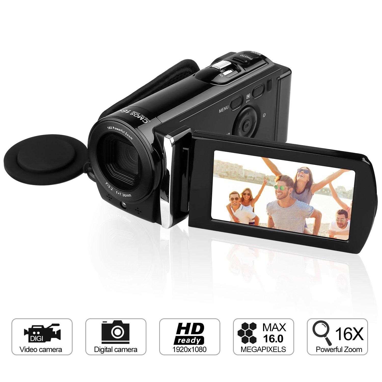 GordVE KG0018 16MP Digital Camera DV Video Recorder Mini DV Camcorder with 3.0'' Display 16x Digital Zoom