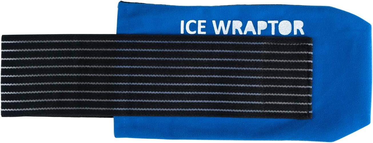 "Ice Wraptor Compression Ice Wrap for Ice Packs or Reusable Ice Sheets up to 5x10""- for Joint Pain, Pain Relief, Fits Any Body Part, Compression Wrap"