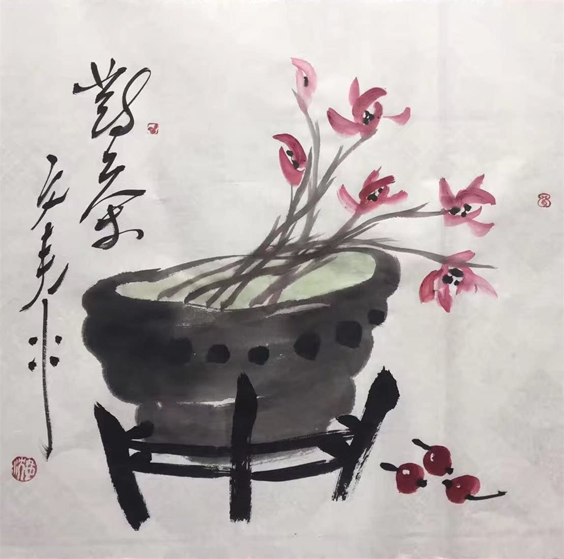 Handmade Thickened Chinese Calligraphy Brush Ink Writing Sumi Paper Xuan Papers Set Art Paper for Beginners Practice Chinese Painting Drawing Rice Paper Cooked Rice Paper, 14/×11 inch