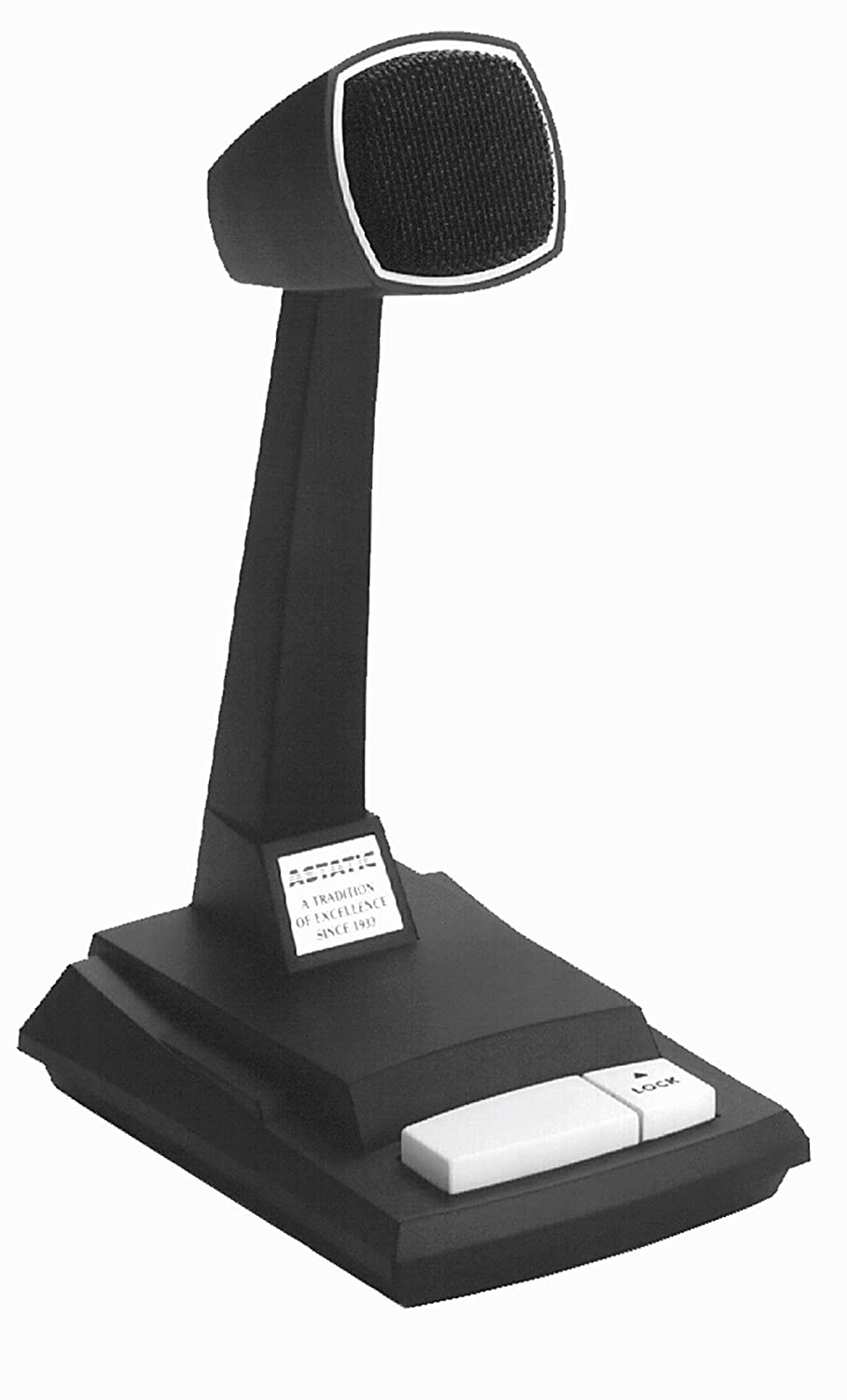 Astatic Omnidirectional Dynamic Desk Top Microphone with Locking Push to Talk Switch CAD Microphones 878HL-2