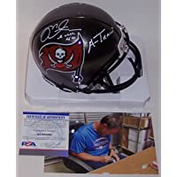 Mike Alstott Autographed Hand Signed Tampa Bay Bucs Mini Helmet - with A-Train Inscription - PSA/DNA photo