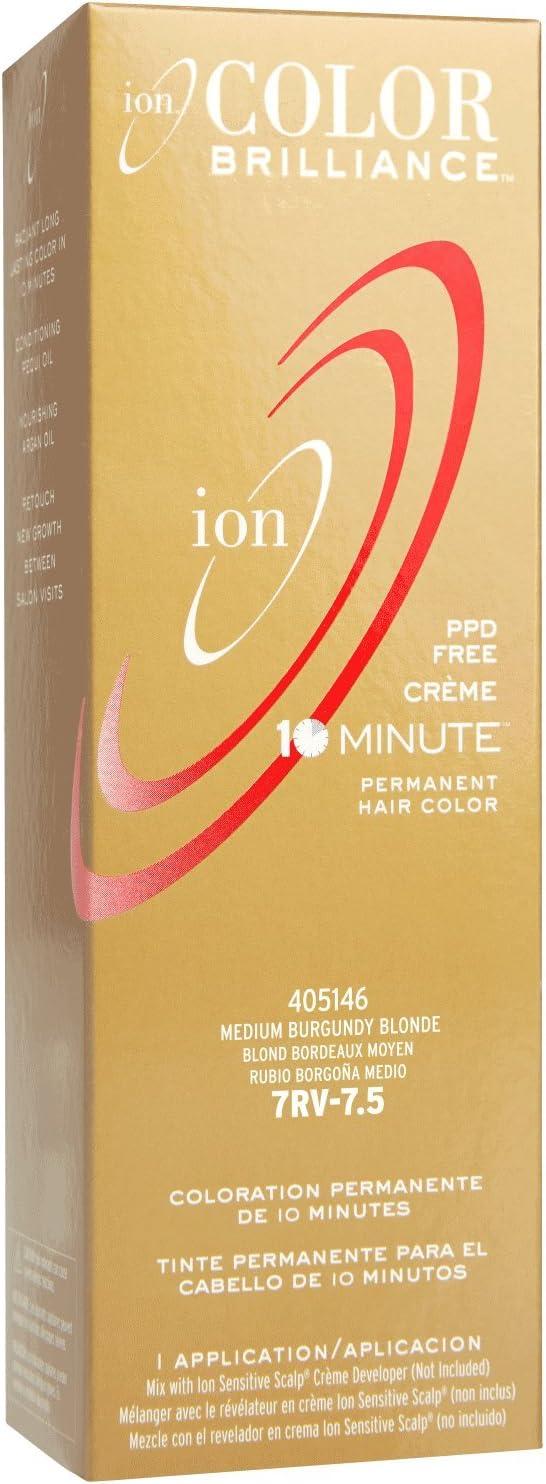 Ion Color Brilliance Permanent Creme 10 Minute Hair Color 7RV ...