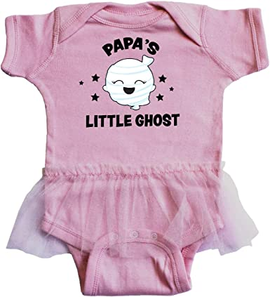 inktastic Cute PapPaps Little Ghost with Stars Infant Tutu Bodysuit