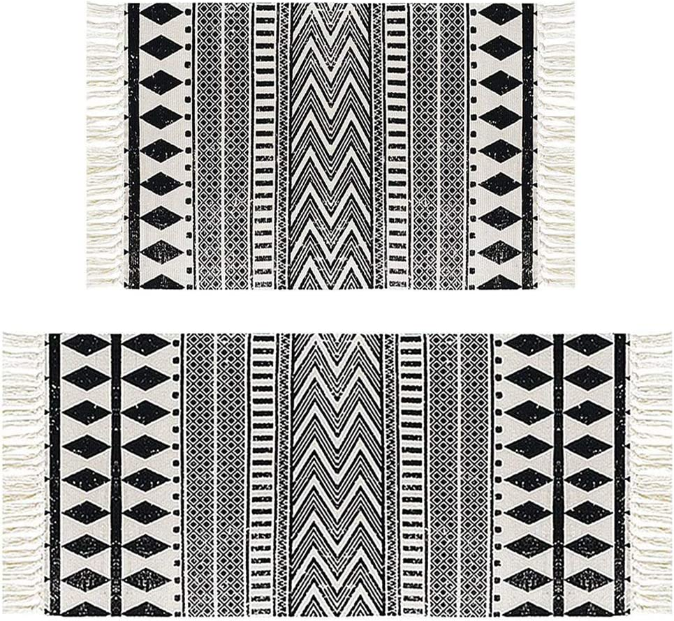 HEBE Cotton Area Rug Set 2 Piece