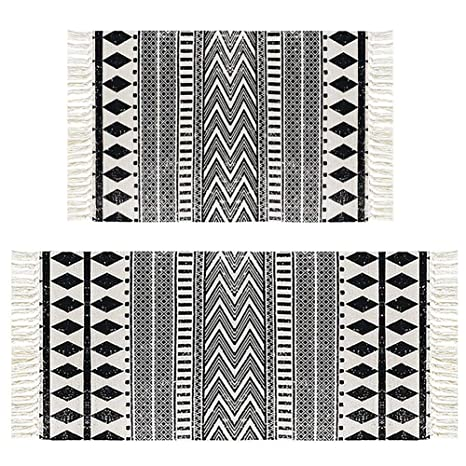 amazon com hebe cotton area rug set 2 piece 2 x3 2 x4 2 woven rh amazon com