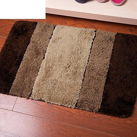 Fibra absorbente de agua antideslizante alfombra de baño/Mat/Color de rayas en colchones