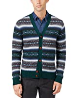 Tommy Hilfiger Mens Wool Pattern Cardigan Sweater
