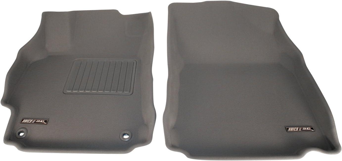 Aries IN00011501 Gray Front 3D Floor Liner 2 Piece