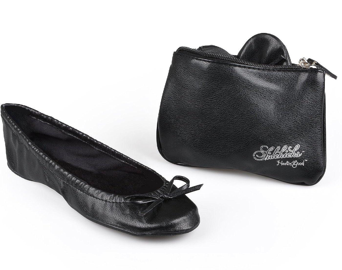 Sidekicks Womens Foldable Ballet Flats w/ Carrying Case B006X410SS Parent