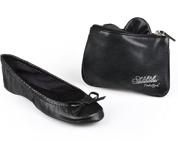 Sidekicks Small Black Foldable Ballet Flat Shoes W/ Carrying Case by Sidekicks