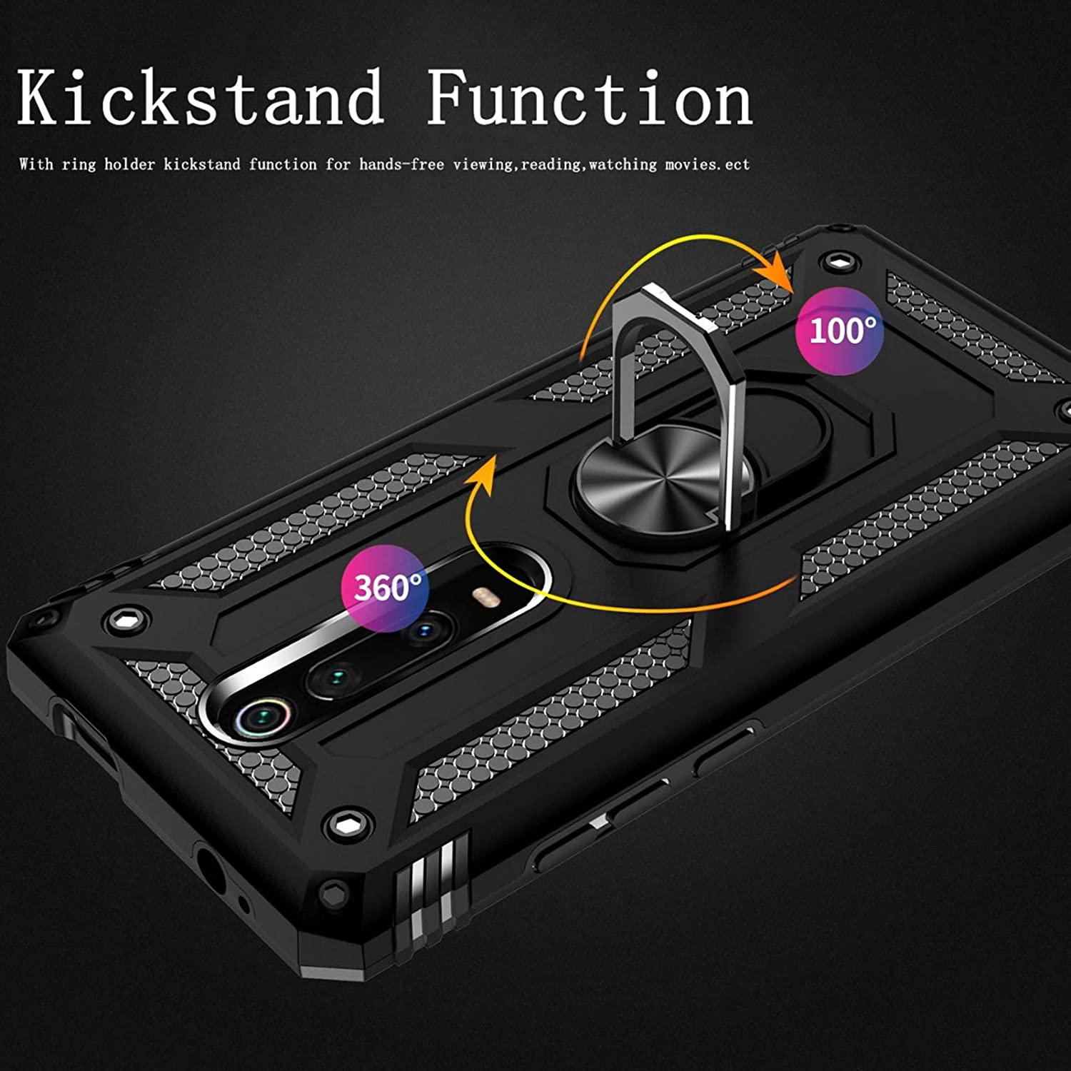 Red Mi 9t Case kickstand Compatible With Xiaomi Mi9t K20 9 T T9 20K Xaimi Xaomi Xiami Magnetic Ring Holder Protective Silicone Shockproof Armour Phone Cover for Xaomi9T//k20 Military Grade