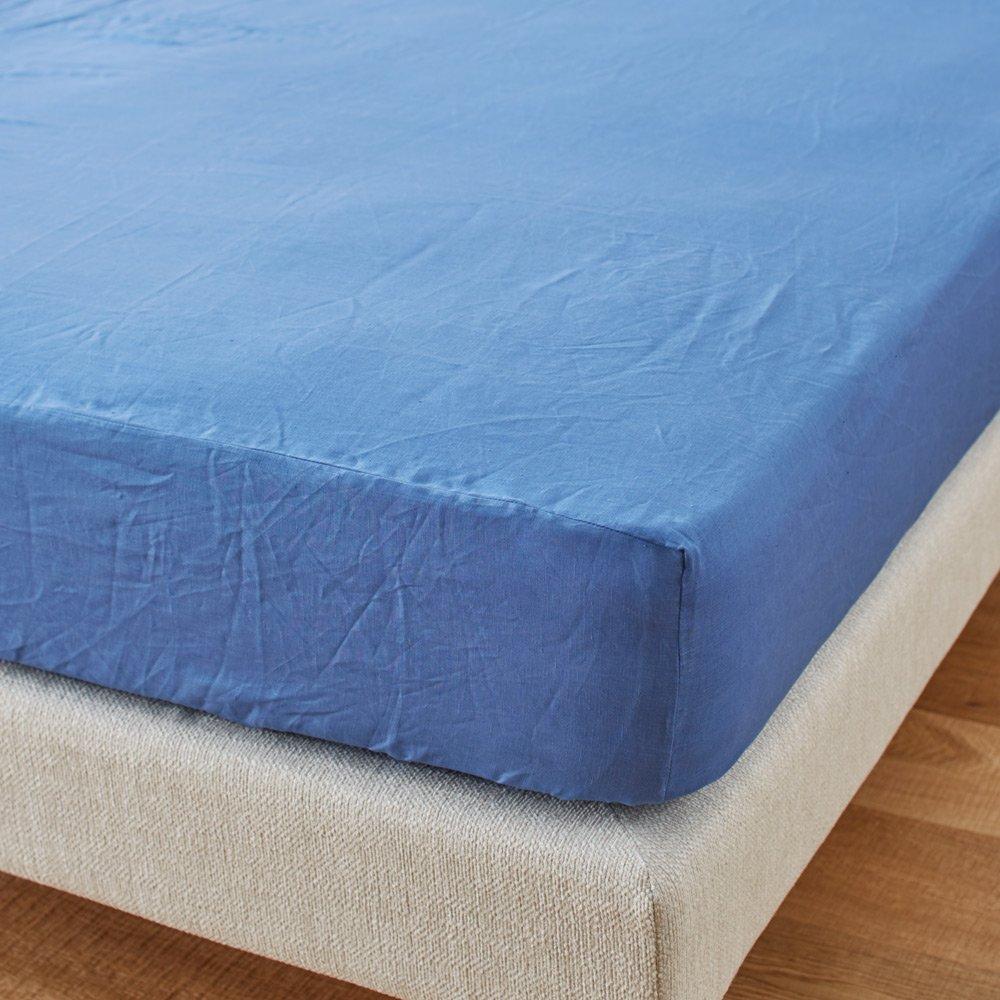セミダブル(French Linenカバーリング ベッドシーツ) H29607(サイズはありません エ:ブルー(WEB)) B079BL4ZWFエ:ブルー(WEB)