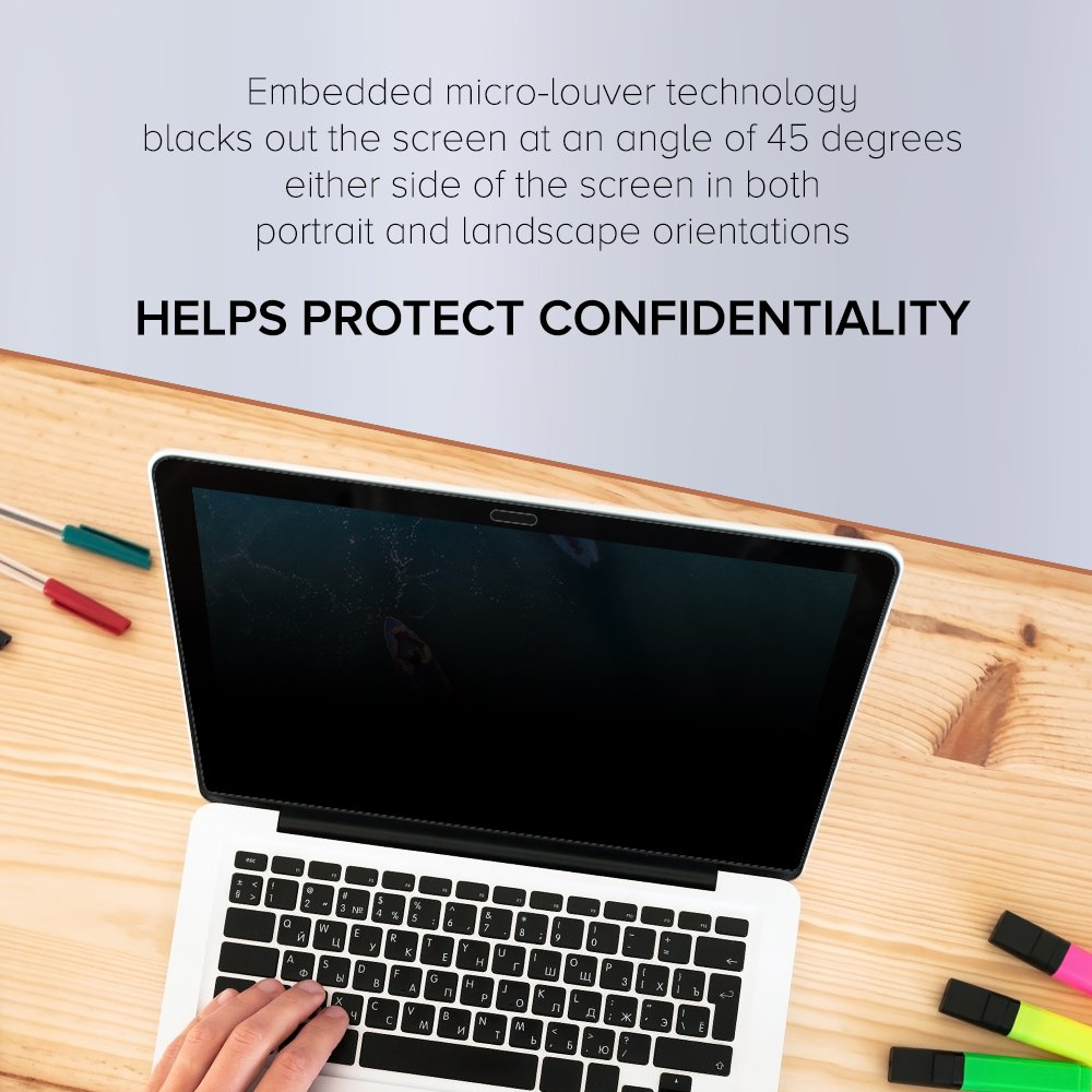 Celicious Privacy Plus 4-Way Anti-Spy Filter Screen Protector Film Compatible with Lenovo ThinkPad T580 (Touch) by Celicious (Image #3)