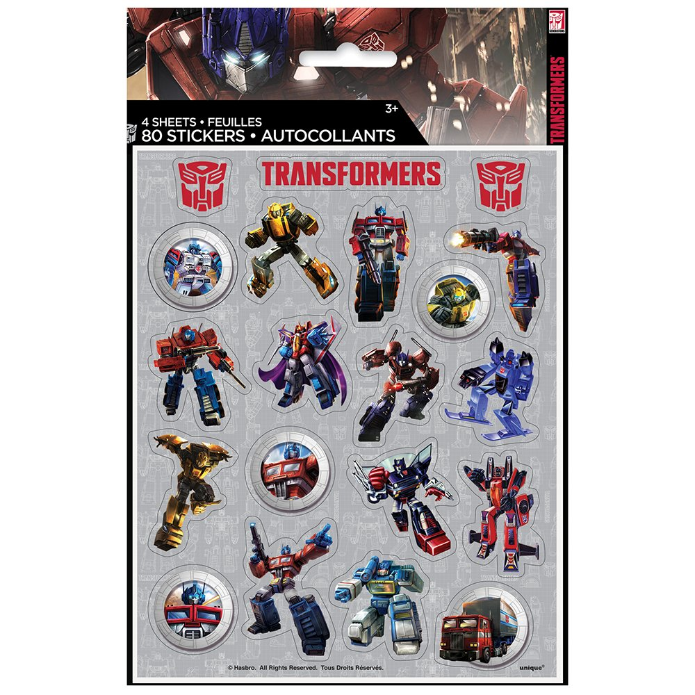 80 Transformers Stickers (4 Sheets of 20) Michaels 59549