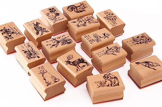 DIY Albums Cards Decor Wooden Rubber Stamp Floral printed  Scrapbooking
