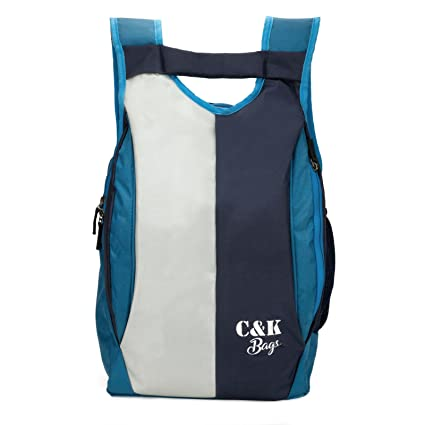 1f954dffc8 Chris   Kate Polyester 21 Litres Blue School Bag  Amazon.in  Bags