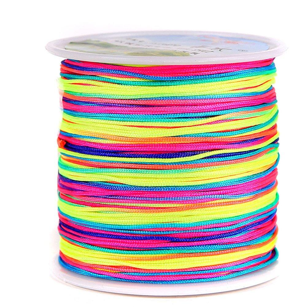 Chinese Knotting Cord - 0.8mm 100M/Roll Shamballa Macrame Nylon Braided Cord String Thread DIY Braided Rope (Mix 29 Rolls) by zhengjun (Image #5)