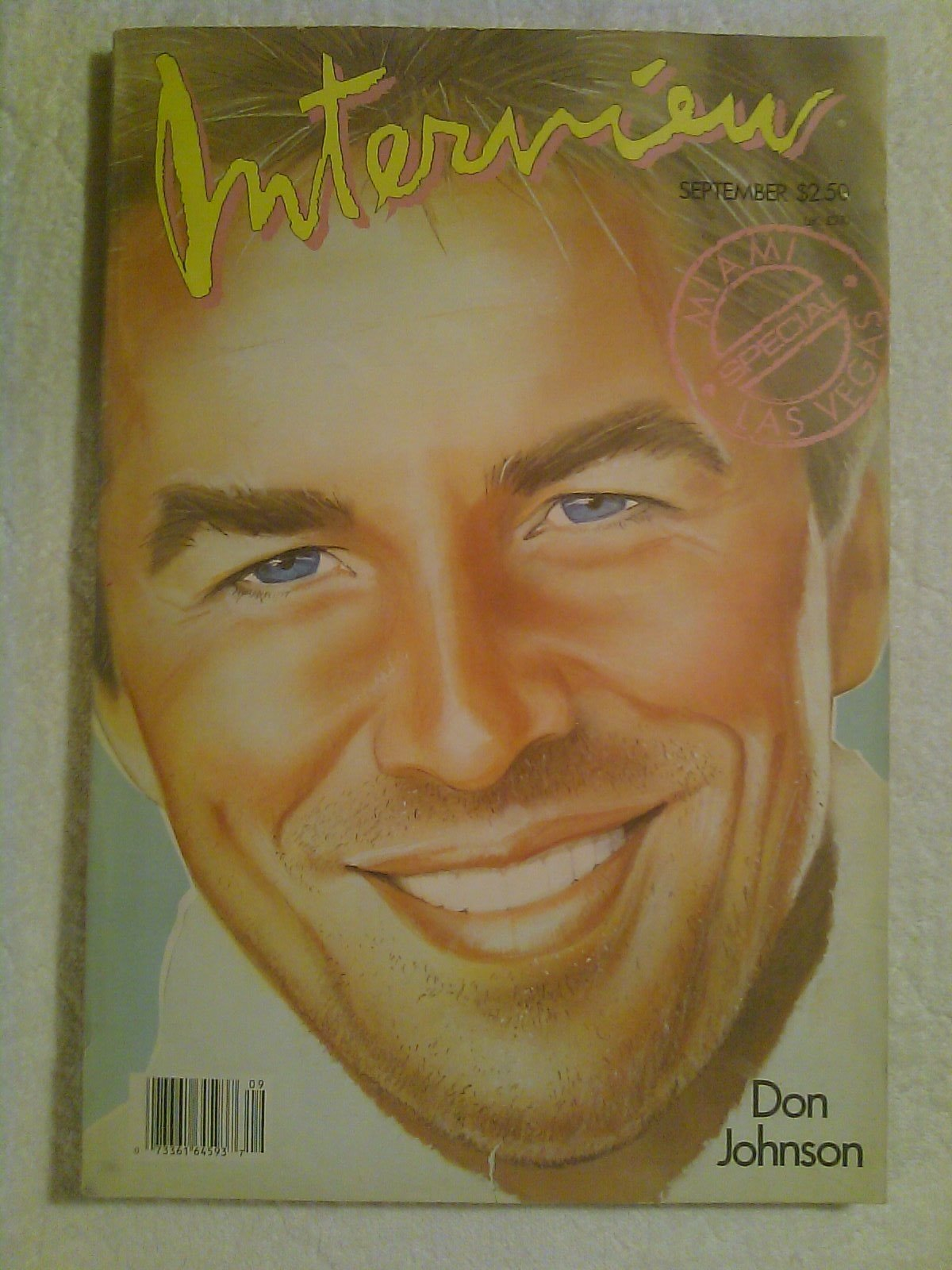 interview magazine don johnson front cover vol xvi no 9 1986 andy warhol
