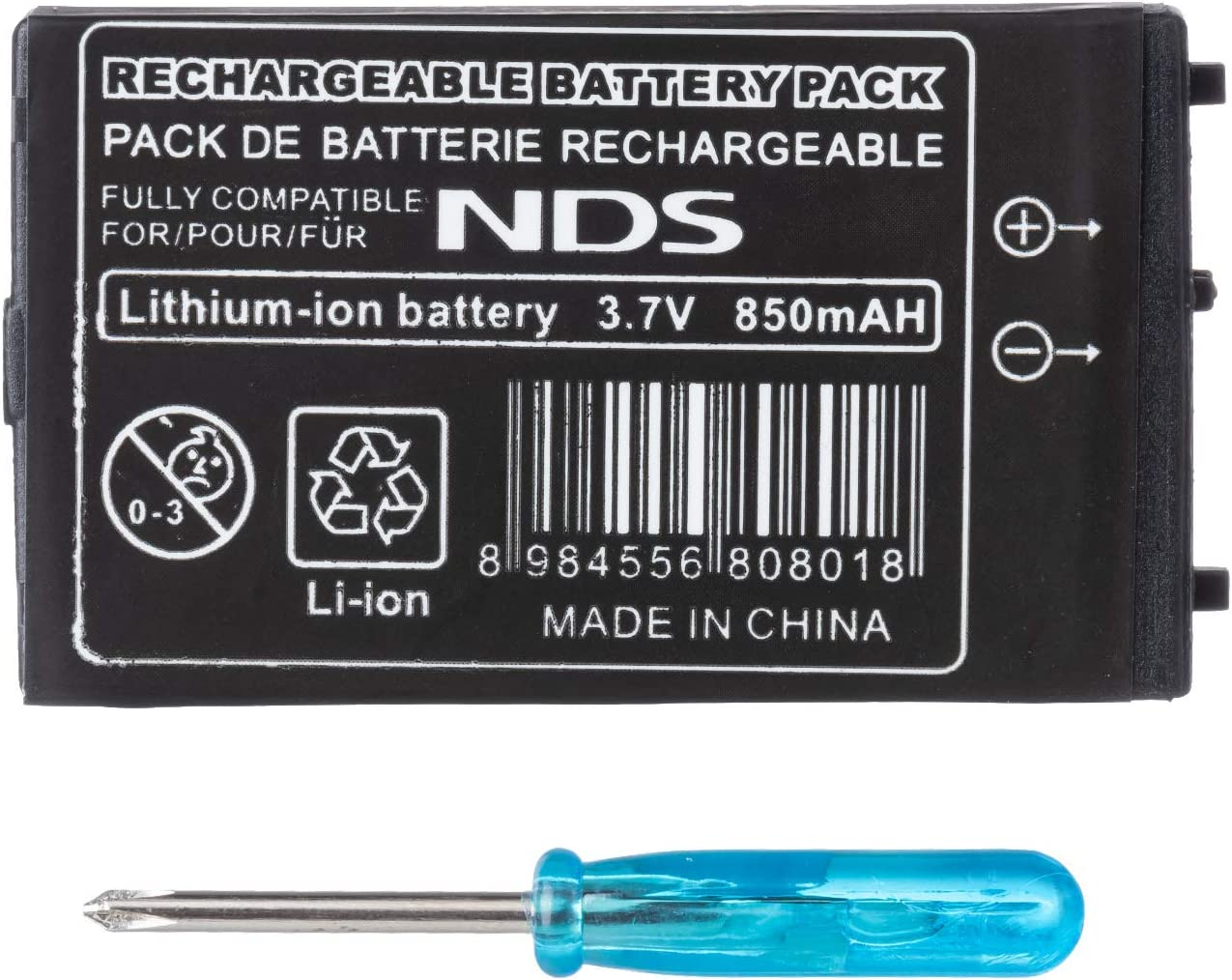 Generic 850mAh Rechargeable Lithium-ion Battery + Tool Pack Kit Compatible for Nintendo DS NDS [Importación Inglesa] [video game]: Amazon.es: Videojuegos
