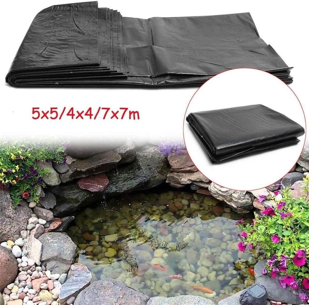 ZANGAO 7x7m / 5x5m / 4x4m HDPE estanque de peces de estanque de jardín Paisaje Liner piscina reforzado grueso Heavy Duty membrana impermeable del trazador de líneas del paño (Size : 5x5 meter)