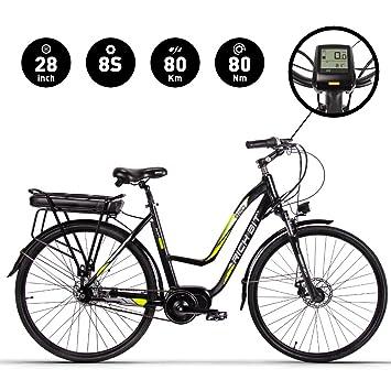 RICH BIT SBX Bicicleta Eléctrica City Bike SHIMANO ASL8S Velocidad BaFang 48V * 250W Motor Central