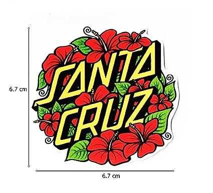 Santa cruz sticker size w8 5 x h8 3 centimeter car motorcycle