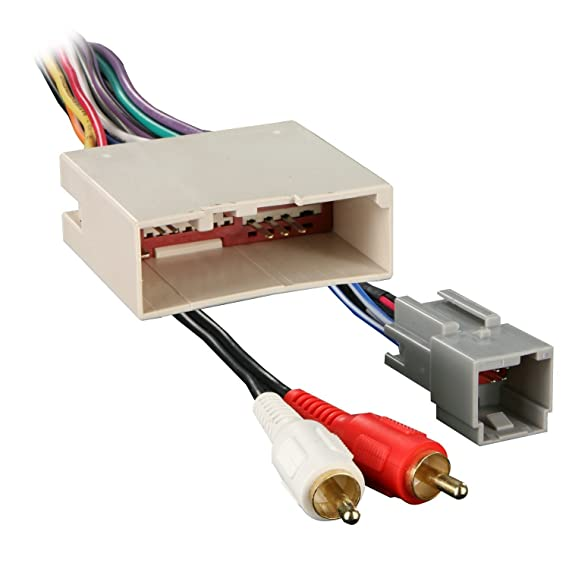 amazon com radio wiring harness for ford 03 up amp cell iso wire harness for ford amp wire harness ford #1