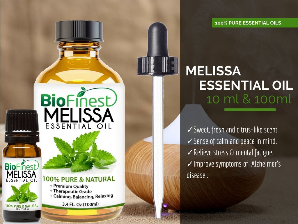 Biofinest Melissa Essential Oil - 100% Pure Undiluted, Organic Therapeutic Grade - Best for Aromatherapy, Ease Stress Headache Indigestion Muscle Sore Acne Wounds - Free E-Book & Dropper (100ml) by BioFinest (Image #4)