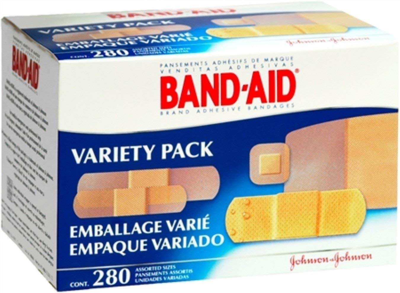 BAND-AID Bandages Variety Pack 280 Each (Pack of 12)