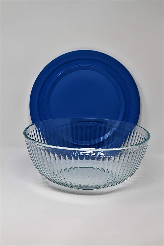 Pyrex 1112377 8-pc Sculptured Mixing Bowl Set Blue.Purple.Yellow.Red Blue.Purple.Yellow.Red.