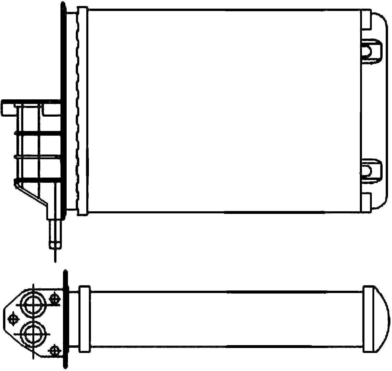 BEHR HELLA SERVICE 8FH 351 001-554  W/ärmetauscher Innenraumheizung