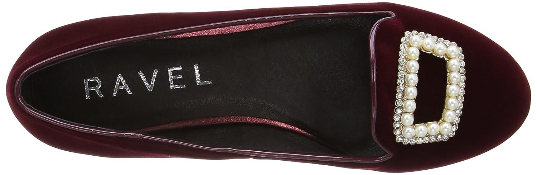 Ravel Minnesota - Zapatos sin cordones de terciopelo mujer, color rojo, talla 37.5: Amazon.es: Zapatos y complementos