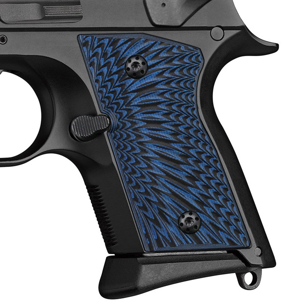 Cool Hand G10 Grips for CZ 2075 RAMI, Sunburst Texture, Blue/Black by Cool Hand