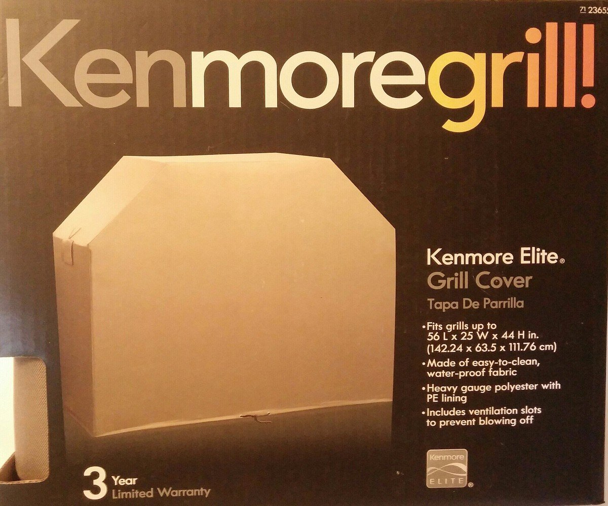 Kenmore Elite Tan Grill Cover Fits 56 X 25 X 44 Amazon Co Uk
