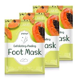 Foot Peel Mask 3 Pairs, Exfoliating Foot Mask Booties Natural Baby Foot Care Treatment Peeling Off Calluses and Dead Skin Cells Repairs Rough Heels For Men Women