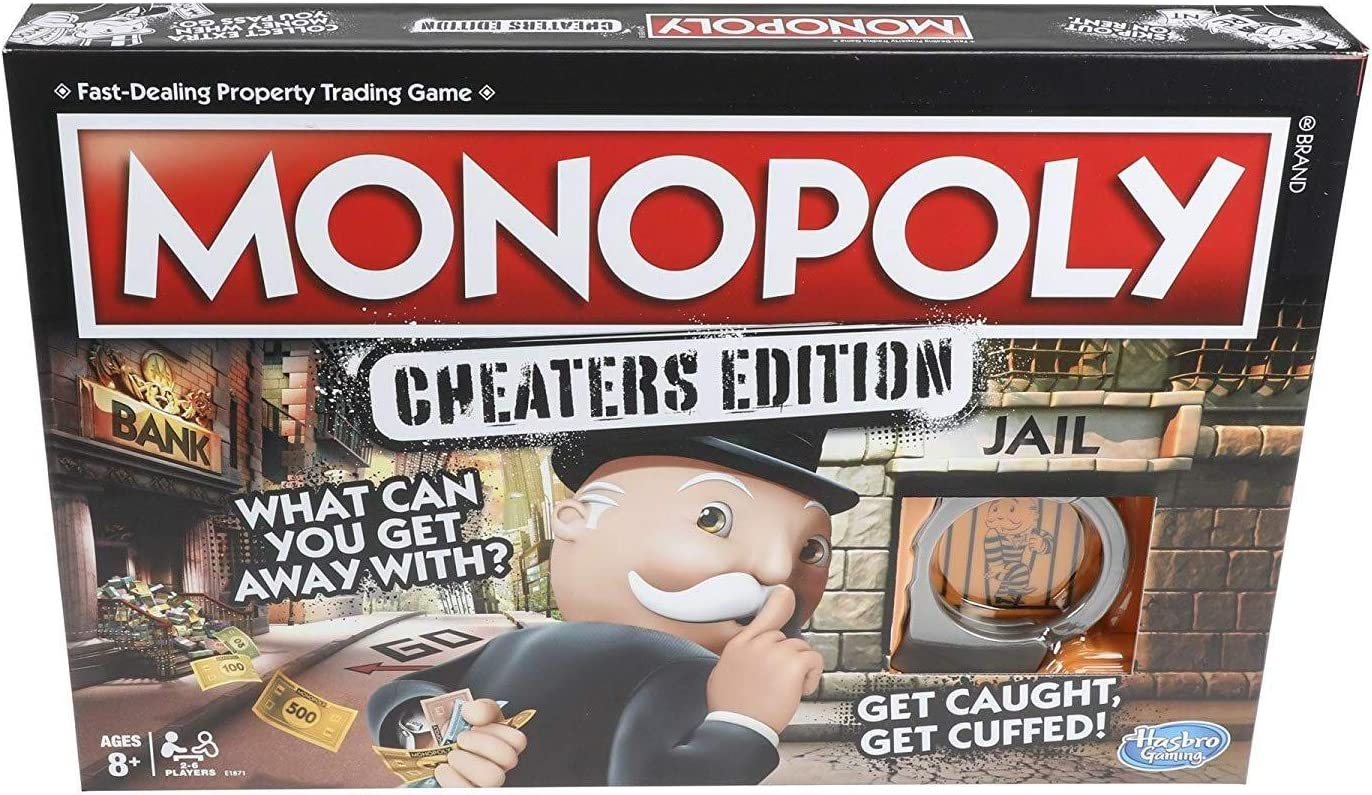 Hasbro Gaming Monopoly Game Cheaters Edition Board Game Ages 8 and Up