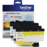Brother Genuine LC30373PKS, 3-Pack Super High-Yield Color INKvestment Tank Ink Cartridges, Includes 1 Cartridge Each of Cyan,