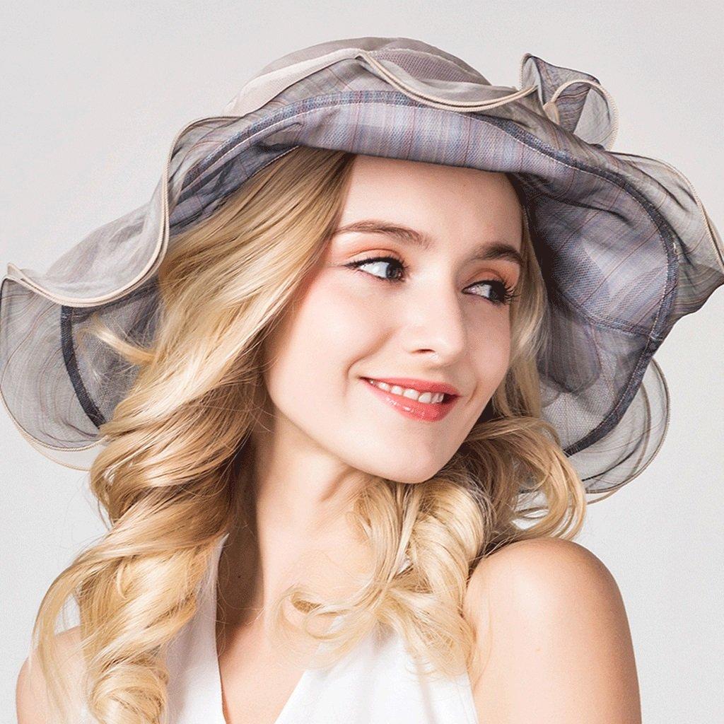 ... Cappello sole donna sole sole estivo sole donna femminile sole sole  QIQIDEDIAN (Coloreee Beige) c935fba3884