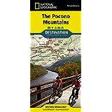 National Geographic NAT GEO Pocono Mountains Map