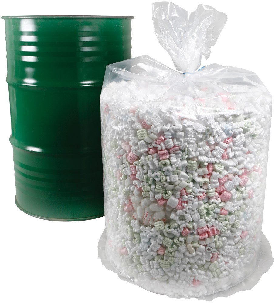55 Gallon Round Bottom Poly Drum Liners, 38'' x 56'', 10-Mil, CASE OF 40