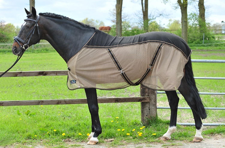 HKM Fly tappeto Valencia in pile durevole mosche e insetti cavallo della coperta, Taupe nero