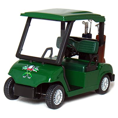 "KinsFun Die-cast Metal Golf Cart Model, 4½"", Green: Toys & Games"