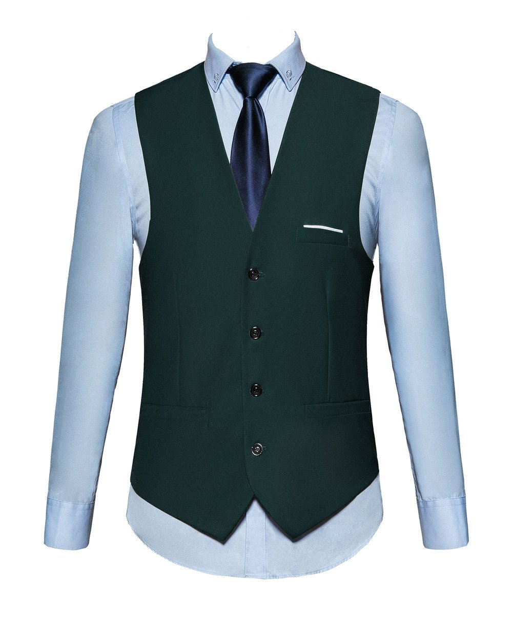 MOGU Mens Waistcoat Causal Suit Vests 13 Colors