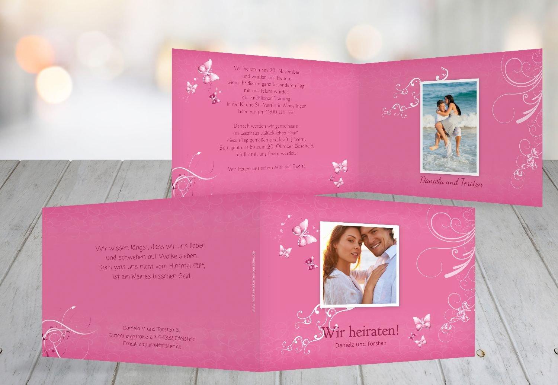 Kartenparadies Hochzeitskarte Hochzeit Einladung butterfly, hochwertige hochwertige hochwertige Einladung zur Heirat inklusive Umschläge   10 Karten - (Format  148x105 mm) Farbe  Lila B01NBX5CIE | Modern  | Charmantes Design  | Einfach zu bedienen  28446c