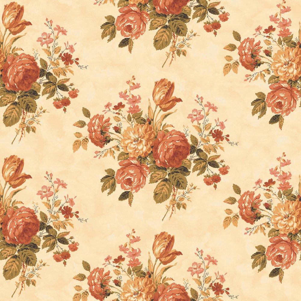 Decorate By Color BC1580999 Orange Cottage Rose Wallpaper