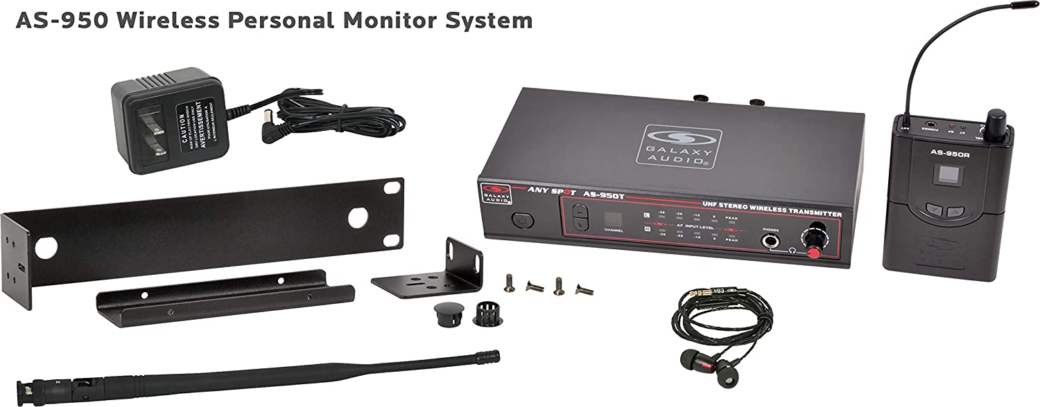 Galaxy Audio AS-950N Wireless In Ear Personal Monitor System, Group N