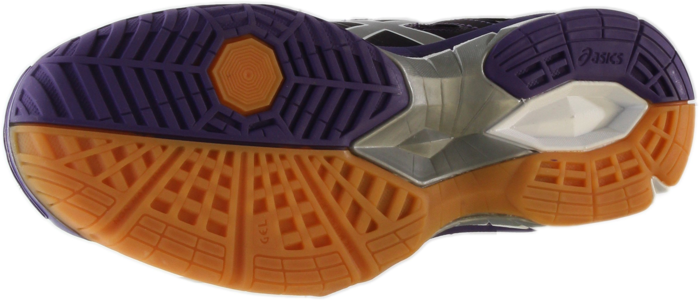 ASICS Women's Gel Tactic Volleyball Shoe, Purple/Silver/White, 9.5 M US by ASICS (Image #7)