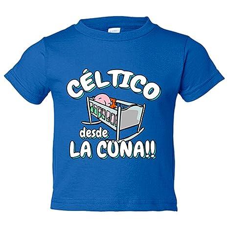 Camiseta niño Céltico desde la cuna Celta Vigo fútbol - Azul Royal, 3-4